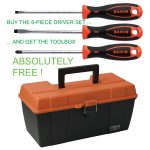 Bahco 806-6 800 Series Screwdriver Set Slotted/Pozi – 6 Piece