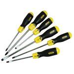 Stanley 0-65-007 Cushion Grip Screwdriver Set Par/flared /phillips…