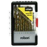 Rolson 48719 19pc HSS Drill Bit Set