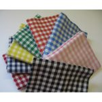 RVFM Cotton Fabric Gingham Fat Quarter 45x55cm Pack 6