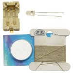 Light Stitches Conductive Thread Kit Rainbow LEDs