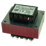 Vigortronix VTX-120-012-509 PCB Transformer 110/220/240VAc 12VA – 9+9V