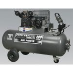 Sealey SAC3203B Compressor 200ltr Belt Drive 3hp with Front Contro…
