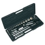 Sealey S0711 Socket Set 52pc 1/4in. and 1/2in.sq Drive Metric