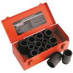 Sealey AK687 Impact Socket Set 13pc Deep 3/4″sq Drive Metric/imperial