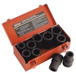 Sealey AK689 Impact Socket Set 10pc Deep 1″sq Drive Metric/imperial
