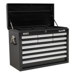 Sealey AP33109B Topchest 10 Drawer with Ball Bearing Runners – Black