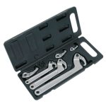 Sealey HWS03 Adjustable Hook and Pin Wrench Set 11pc