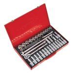 Sealey AK6941 Socket Set 46pc 1/2″sq Drive – Walldrive – Metric