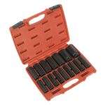 Sealey AK5816M Impact Socket Set 16pc 1/2″sq Drive Deep Metric