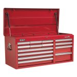 Sealey AP41149 Topchest 14 Drawer with Ball Bearing Runners Heavy-…