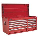 Sealey AP41110 Topchest 10 Drawer with Ball Bearing Runners Heavy-…