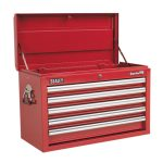 Sealey AP33059 Topchest 5 Drawer with Ball Bearing Runners – Red