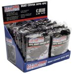 Sealey CSC412 Seat Cover Set 4pc Display Box of 12