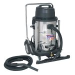 Sealey PC477 Industrial Wet and Dry Vacuum Cleaner 77ltr Stainless D…