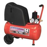 Sealey SAC02415 Compressor 25ltr Belt Drive 1.5hp Oil Free