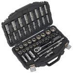 Sealey AK8954 Socket Set 48pc 1/2″Sq Drive 6pt WallDrive Metric