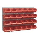 Sealey TPS130 Bin and Panel Combination 24 Bins – Red