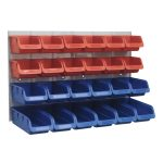 Sealey TPS132 Bin and Panel Combination 24 Bins – Red/Blue