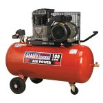 Sealey SAC1103B Compressor 100ltr Belt Drive 3hp with Cast Cylinde…