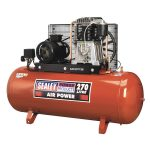 Sealey SAC52775B Compressor 270ltr Belt Drive 7.5hp 3ph 2-Stage – …