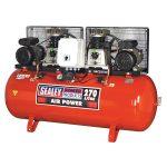 Sealey SAC2276B Compressor 270ltr Belt Drive 2 x 3hp with Cast Cyl…