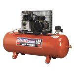 Sealey SAC2153B Compressor 150ltr Belt Drive 3hp with Cast Cylinders