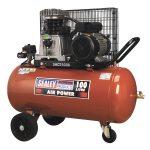 Sealey SAC2103B Compressor 100ltr Belt Drive 3hp with Cast Cylinde…