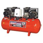 Sealey SAC1276B Compressor 270ltr Belt Drive 2 x 3hp with Cast Cyl…