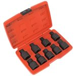 Sealey SX095 Impact Spline and Hex Socket Bit Set 9pc 3/4″Sq Drive