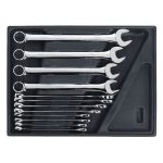Sealey TBT37 Tool Tray with Combination Spanner Set 12pc – Metric