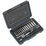 Sealey AK7950 Socket Set 32pc 1/4″Sq Drive 6pt WallDrive Metric