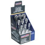 Sealey AK6648DB Ratchet Wrenches 1/4″, 3/8″ and 1/2″Sq Drive Display…