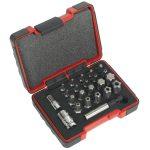 Sealey AK6226 TRX-P and Security TRX-TS Bit Set 23pc 1/4″ and 3/8″Sq Drive