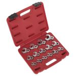Sealey AK59891 Crow's Foot Open End Spanner Set 15pc 3/8″Sq Drive …