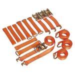 Sealey TDRWKIT Car Trans Ratchet Tie Down Alloy/Steel Wheel Kit 4p…