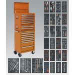Sealey SPTOCOMBO1 Tool Chest Combi 14 Drawer BB Runners Orange and 1…