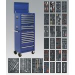 Sealey SPTCCOMBO1 Tool Chest Combi 14 Drawer BB Runners Blue and 117…