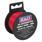 Sealey AC0507R Automotive Cable 5A 7mtr Red