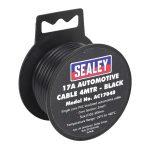 Sealey AC1704B Automotive Cable 17A 4mtr Black