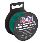 Sealey AC1704G Automotive Cable 17A 4mtr Green
