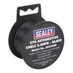Sealey AC2725B Automotive Cable 27A 2.5mtr Black