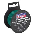 Sealey AC2725G Automotive Cable 27A 2.5mtr Green