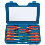 Draper Expert 71155 10 Pc Fully Insulated Pliers and Screwdriver Set