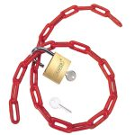 Draper 55818 Padlock and PVC Coated Steel Chain