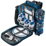 Draper 77007 4 Person Backpack Picnic Set