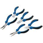 Draper 12544 5 Piece Soft Grip Mini Pliers Set