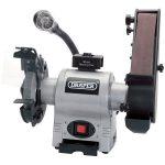 Draper 05096 150mm 370W 230V Bench Grinder With Sanding Belt And LED