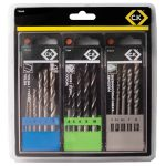 CK Tools T3064B Masonry/Metal/Wood Drill Bit Set of 16
