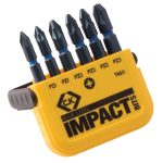 CK Tools T4511 Blue Steel Impact Screwdriver Bit – PZ Set of 6